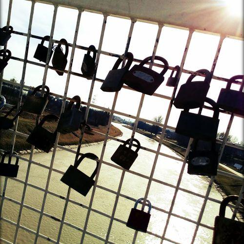 Metal Protection Day Sky Padlock's Bridge Padlock Padlocks Padlocks, Lovers Locks, Promises, True Love, Romance Arturhippe Polishpriest Sadangel Pokojartura