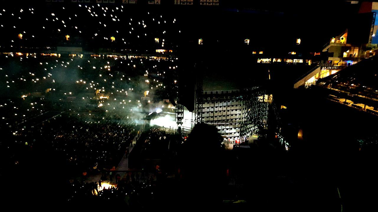 Welcome To Black Beyonce Beyoncé Concert Seattle, Washington Centurylinkfield Sistertime Night Illuminated Outdoors City Cityscape Neighborhood Map