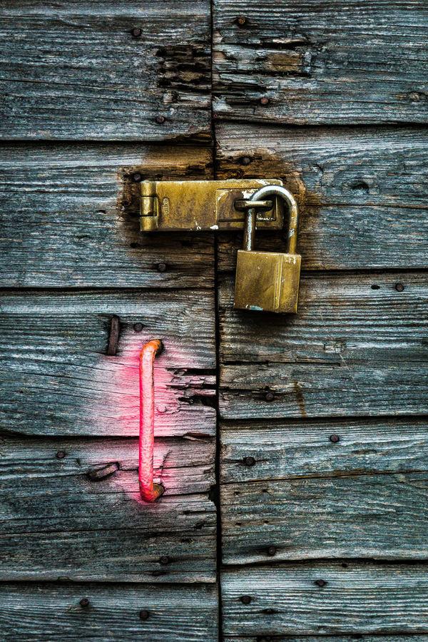 Close Up Closed Door Door Lock Minimalism No Entry No People, Pink Rustic Style