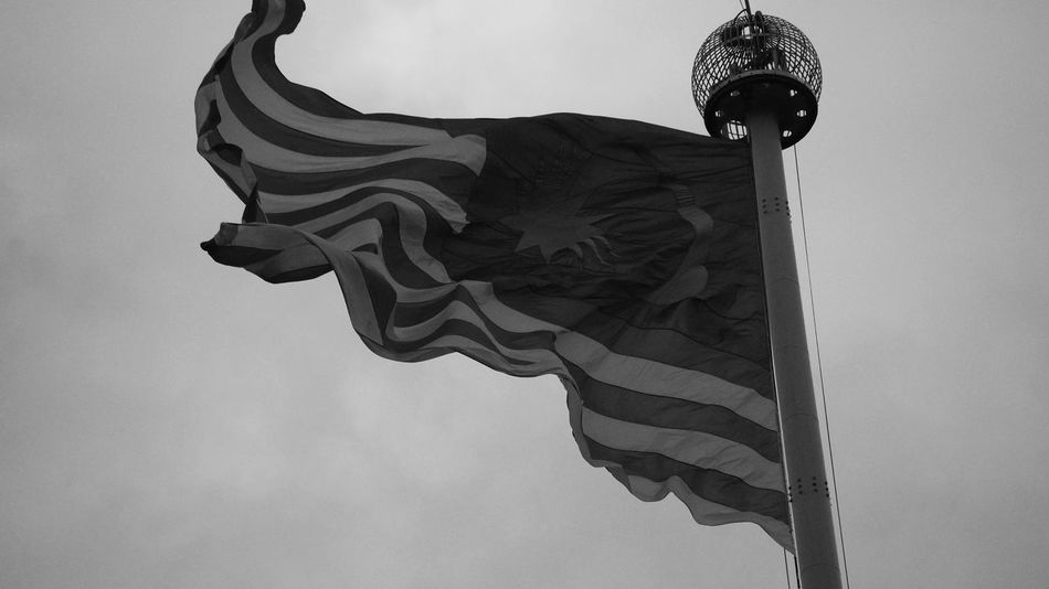 Flag Patriotism Low Angle View Pride Striped Wind Independence No People Day Sky Outdoors Clear Sky Close-up