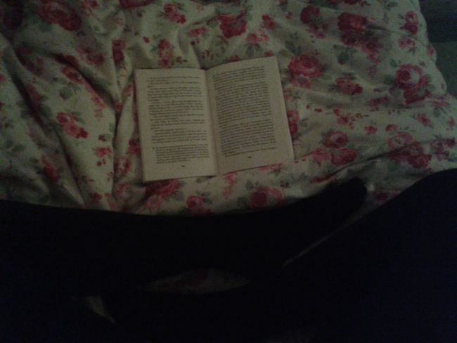 i love books. i like that the moment you open one and sink into it you can escape from the world into a story that's way more interesting that yours will ever be. Books Reading Legs Bed