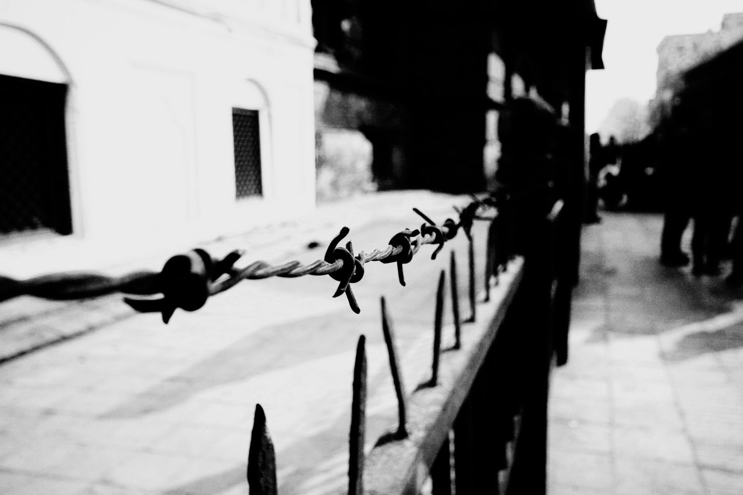 Whether you bind yourself to restrictions or to be literal is completely up to you. ShiwaaneeDcPhotography ShiwaaneeDcWriting MonochromeObsession Barbedwire YouControlYourself Streetphotography Streetphoto_bw