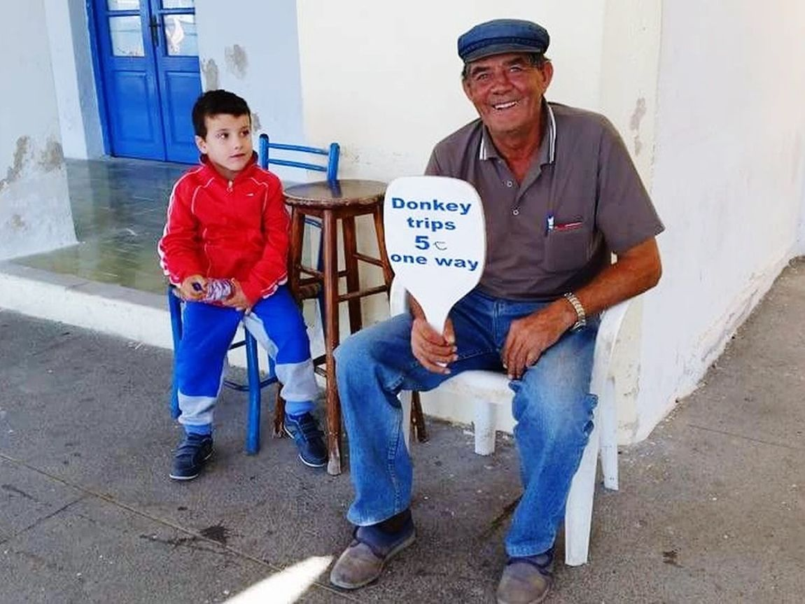 Togetherness Donkey Time Santorini, Greece Grandson Grandpa Love The Portraitist - 2017 EyeEm Awards