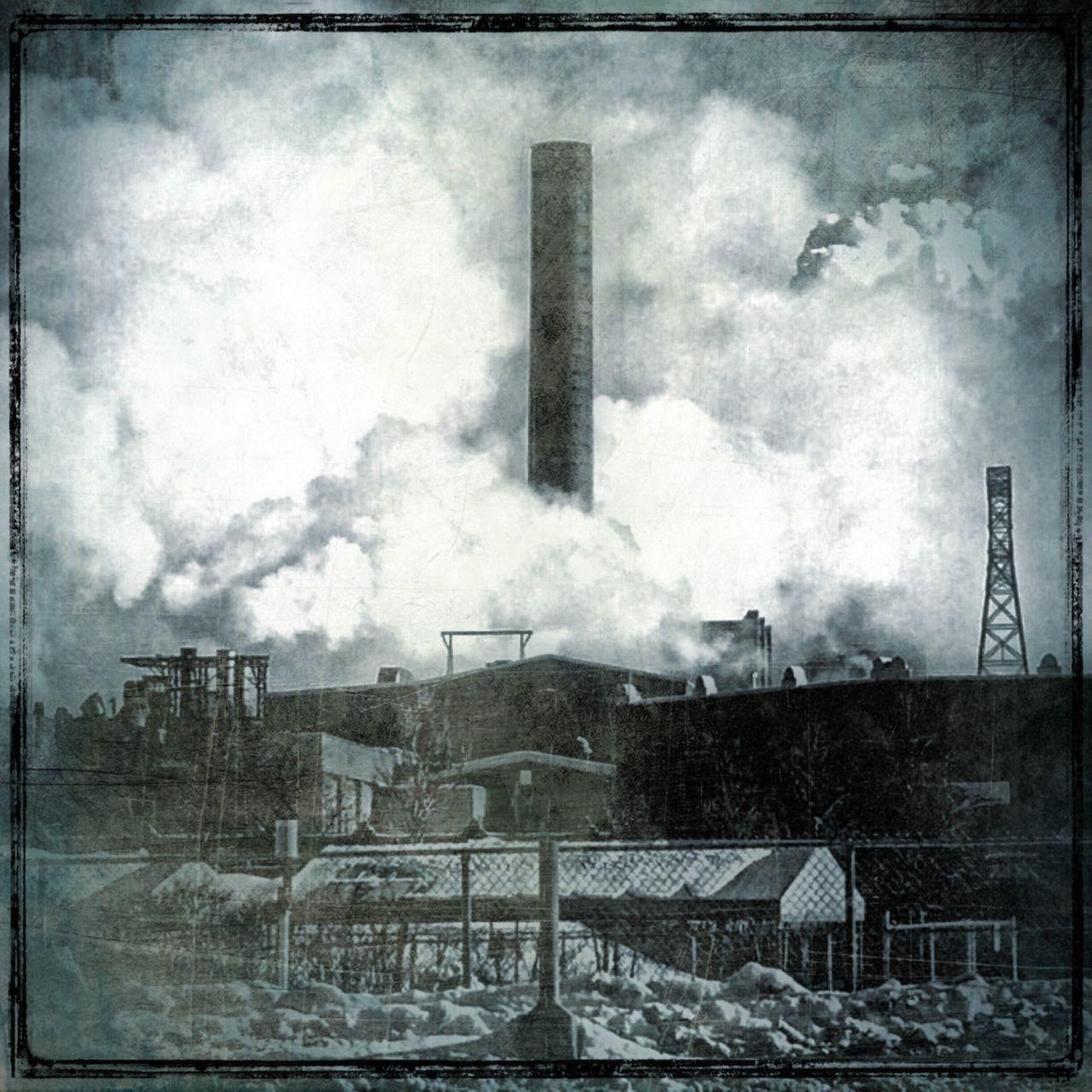 Chimney Smoke Industrial Landscapes Blackandwhite
