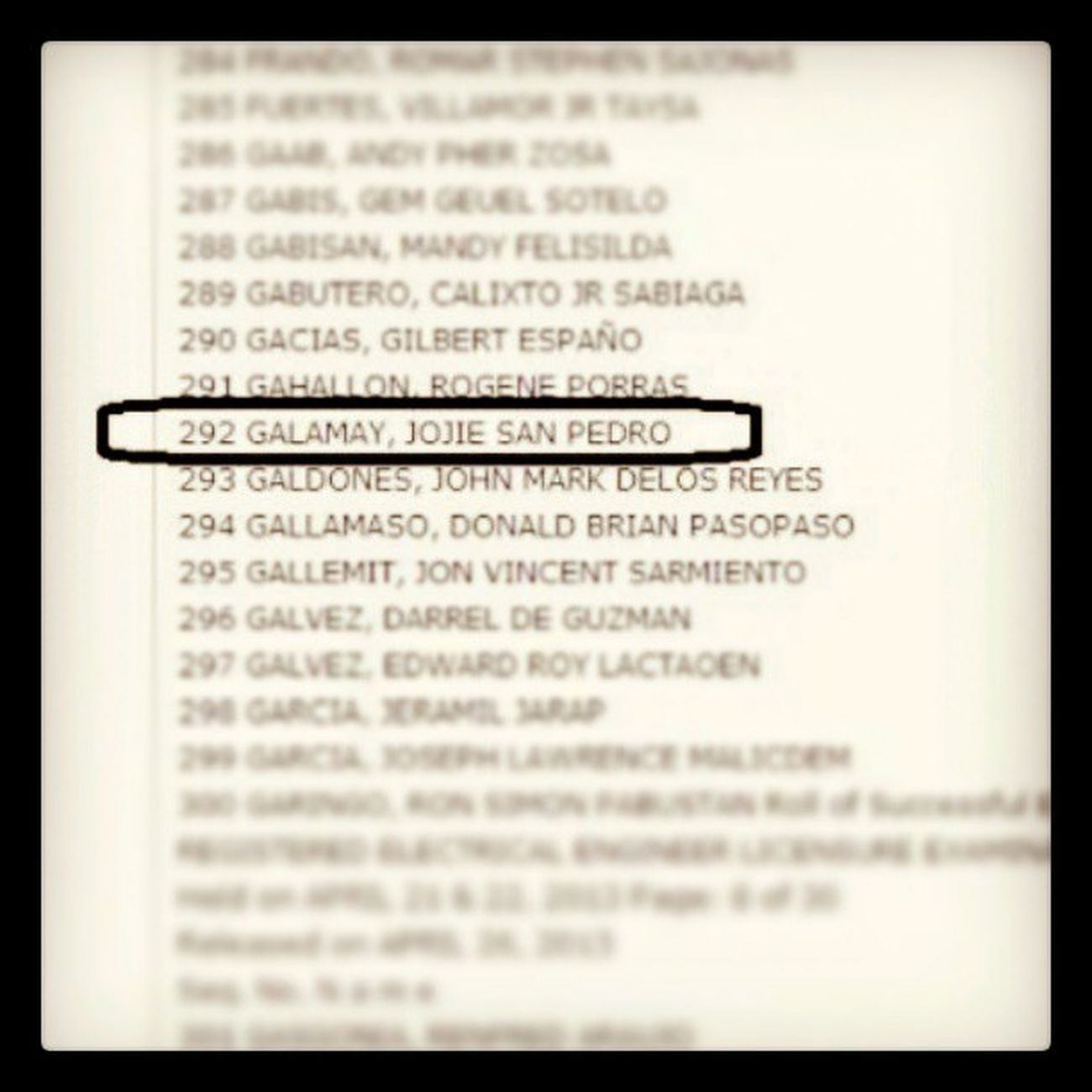 cogratulation tita ENGR. Jojie San Pedro Galamay! We're so proud of you! :-) ElectricalEngineer Boardexam Proud !