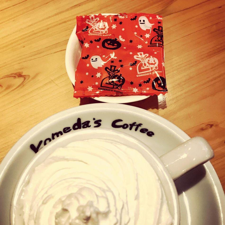 Halloween/コメダ珈琲店 Table Indoors  Close-up No People Day Coffee Coffee Break