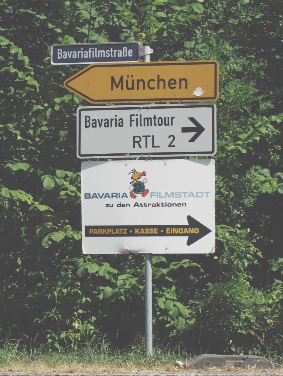 Signs Road Signs On The Road Bavaria Filmstadt Bavaria Munich The Traveler - 2015 EyeEm Awards