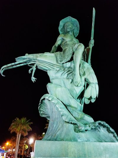 Statue Sculpture Night Arts Culture And Entertainment Travel Destinations No People Outdoors Mexico_great_shots Shrimp! Seafood Note8photography Beachphotography Travel Photography Traveling Travelingtheworld RockyPoint Mexico first eyeem photo EyeEmNewHere