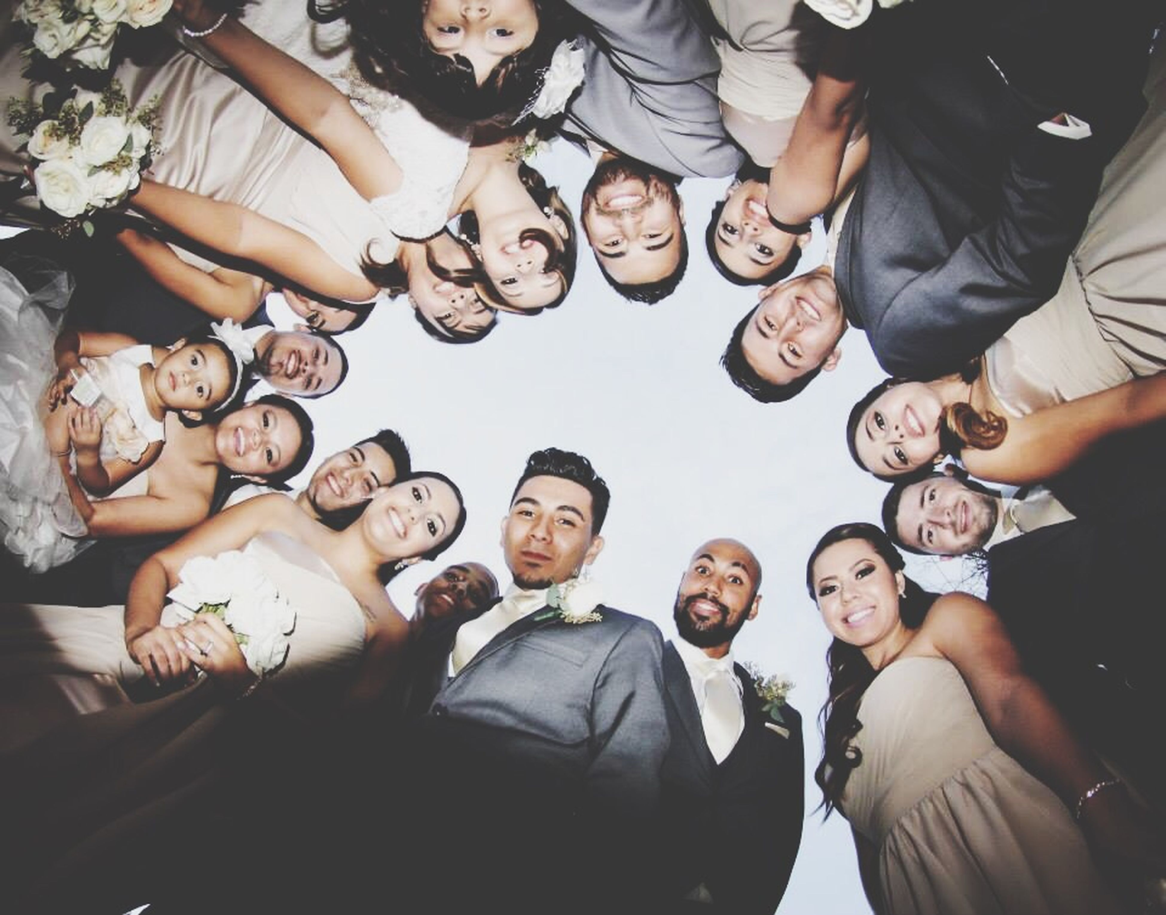 togetherness, lifestyles, leisure activity, bonding, friendship, casual clothing, men, person, love, standing, large group of people, indoors, fun, family, enjoyment, celebration, high angle view