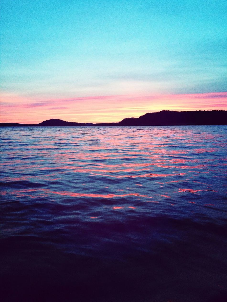Sunset Nature Pink Water