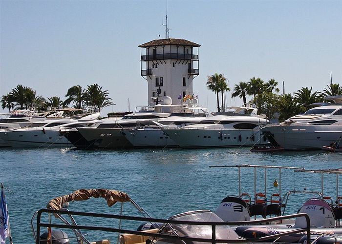 Blue Boat Cruise Enjoying Life Fine Art Photography Getting Inspired Harbor Hello World Hidden Gems  Holiday Life Is A Beach Lifestyles Mallorca Mediterranean Sea Mode Of Transport Nautical Vessel Outdoors Port Puerto Portals Relaxing SPAIN Tower Travel Walking Around Yacht