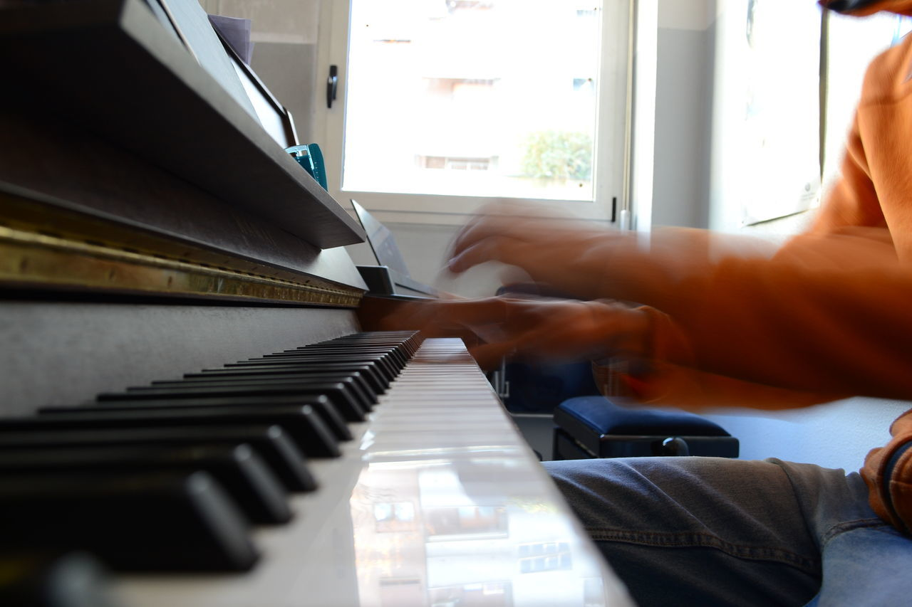 Movement in music Detail Movement Moving Hands Music Musical Instrument Piano Playing Piano Reflection Hands At Work