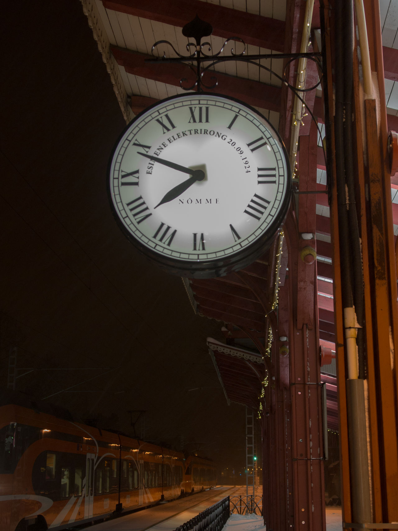 Clock Clock Face Hour Hand Instrument Of Time Minute Hand No People Nõmme Outdoors Station Clock Tallinn Time Train Train Station Transportation
