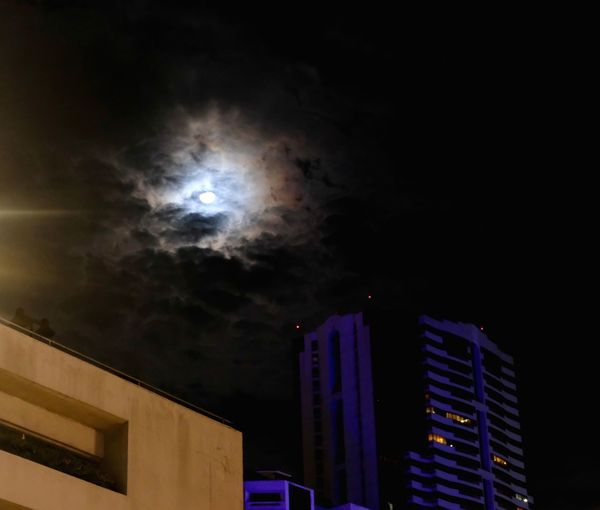 Dark Luna Building Exterior Architecture Built Structure Low Angle View Night No People Sky Illuminated Cloud - Sky Outdoors City Nature Skyscraper
