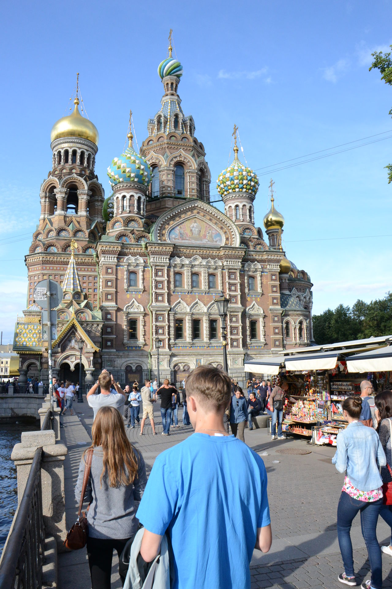 Church of Savior of the Blood, in St. Petersburg, Russia. Architecture Religion Travel Destinations Outdoors Group Of People Large Group Of People Place Of Worship Dome Building Exterior Travel City Vertical Sky