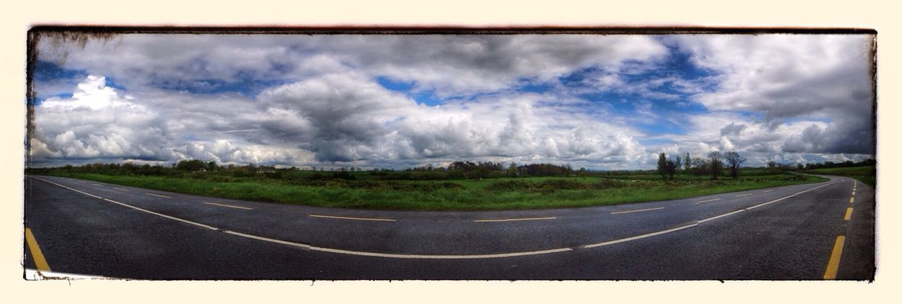 road, sky, transportation, cloud - sky, panoramic, no people, day, nature, landscape, scenics, outdoors, beauty in nature
