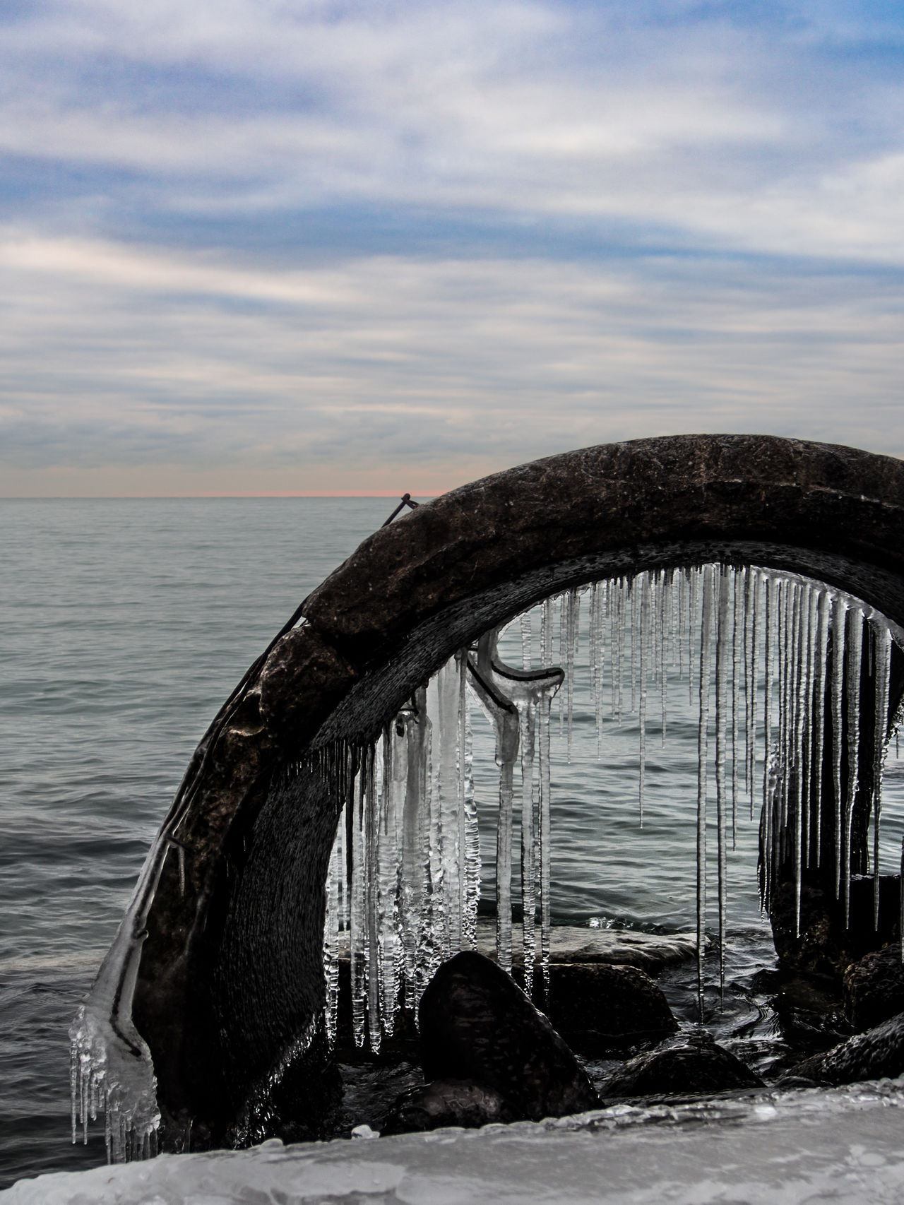 Abandoned Cloud - Sky Day Horizon Over Water Nature Nautical Vessel No People Outdoors Sea Sky Wake - Water Water Winter