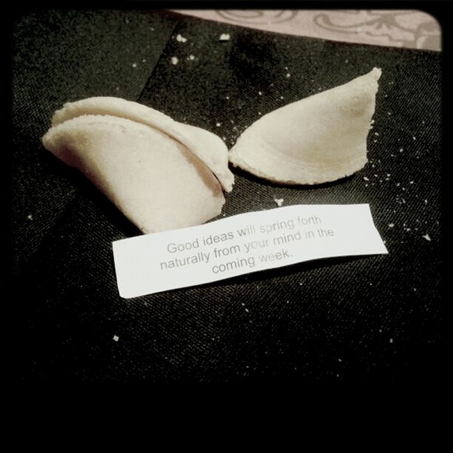 Sounds good. Fortune Cookie Asian Food