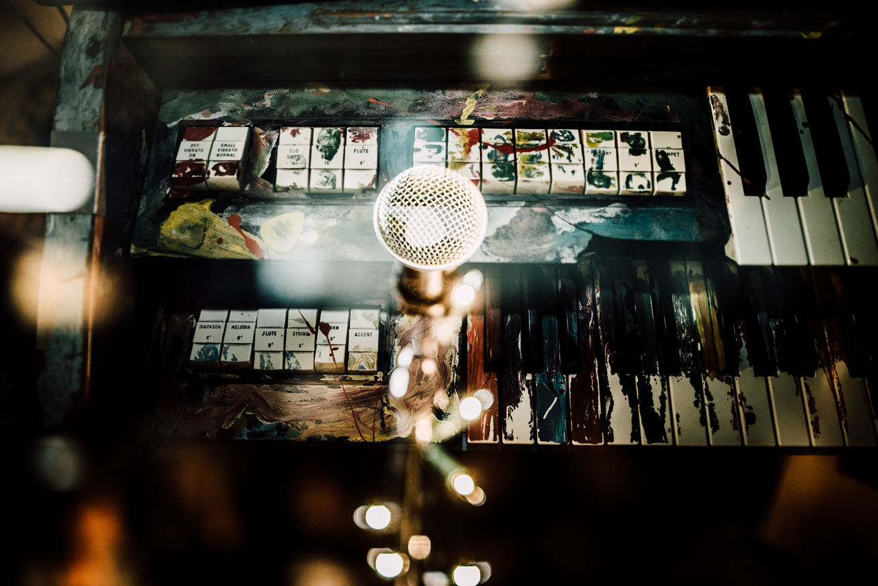 Dirty Double Exposure Illuminated Keyboard Microphone Music Musical Instrument No People Piano Moments Piano Piano Keys Piano Keyboard