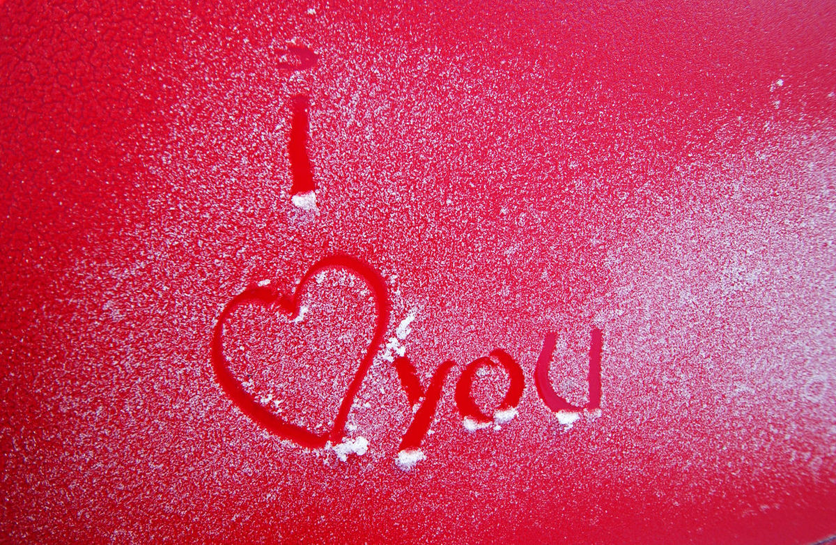 i love you Close-up Cold Day Frost Full Frame Handwriting  I LOVE PHOTOGRAPHY I Love You I Lover Her  Ice Love Concept No People Peel Red