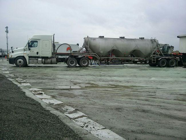 Ohio Pennsylvania Fracking Titans Of Industry truck on containment tarp