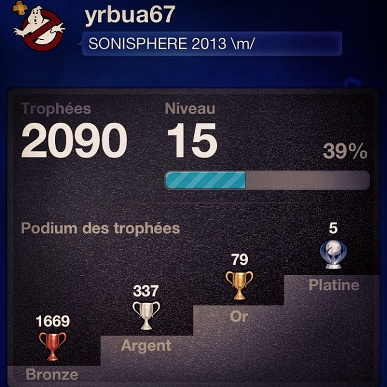 Psn Playstation2013 2090 Trophee trophy ps3 playstation3 sony instragram instragame instrcool platine
