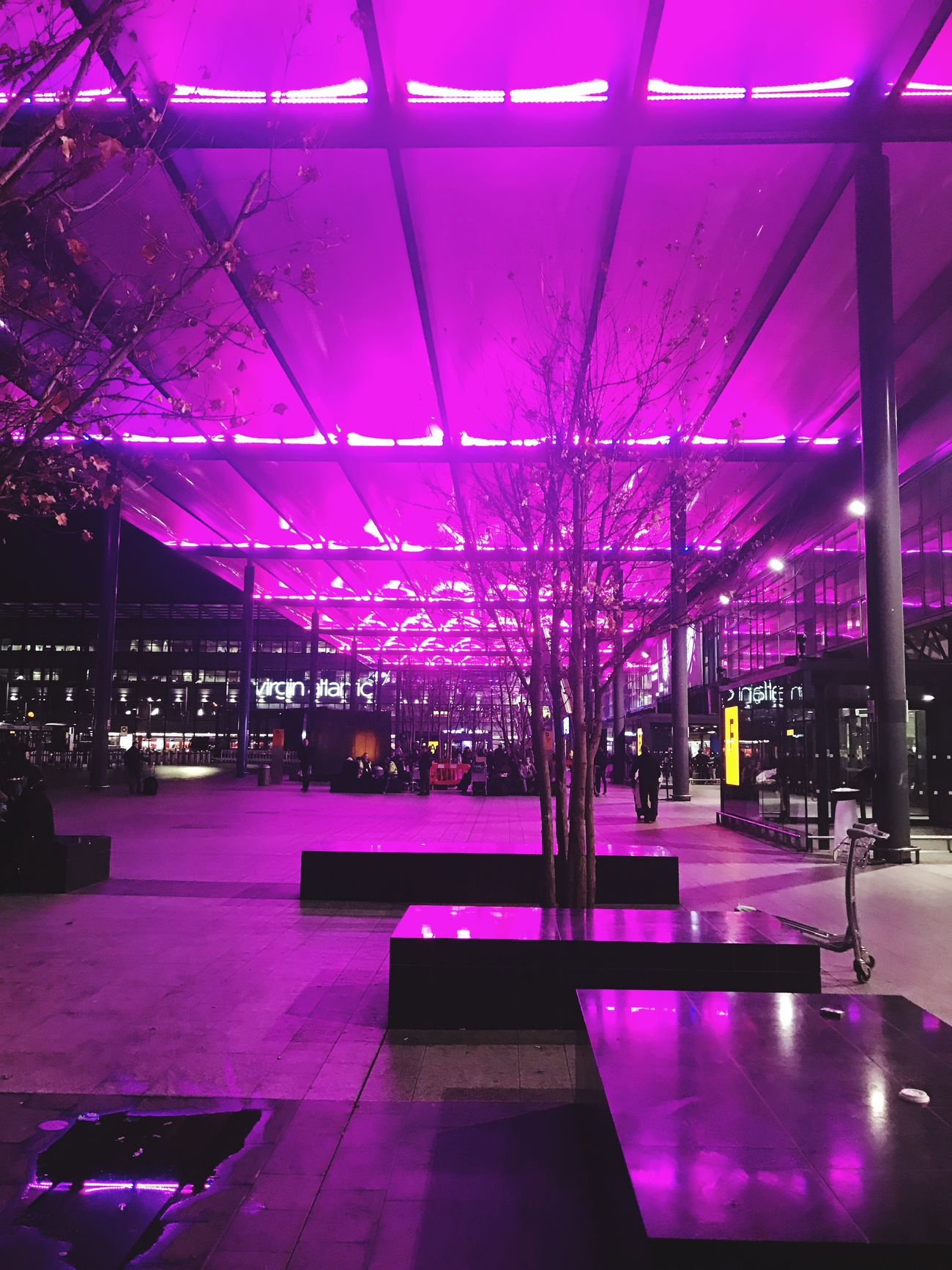 Purple Illuminated Built Structure No People Architecture Night Architecture Lighting Equipment From My Point Of View City Light View Capture The Moment Travel Destinations Creativity stunning