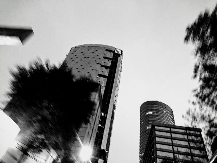 Architecture Black & White Blackandwhite Building Exterior Built Structure Cdmx Clear Sky Day Low Angle View No People Outdoors Paseo De La Reforma Selective Focus