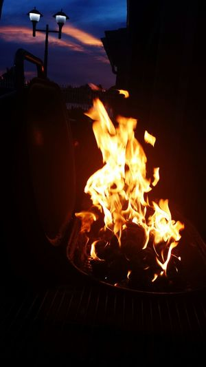 burn baby burn..... BBQ Time Bbqnight Fire Sunset