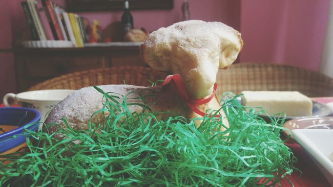 Easter Lamb Easter Sunday Cake Family Time Togetherness Happiness