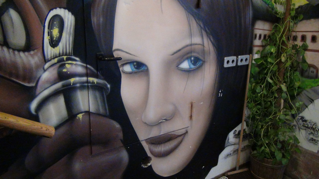 One Woman Only One Young Woman Only Close-up Only Women Young Adult Human Face Women Young Women Portrait Adult Adults Only Futuristic One Person Human Body Part People Day Graffiti Reduit