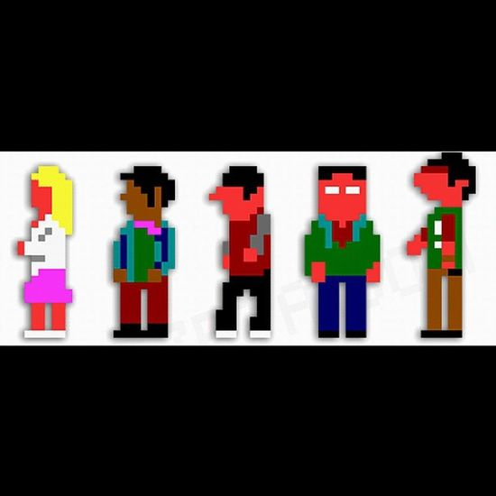 The big bang theory pixel style Tbbt