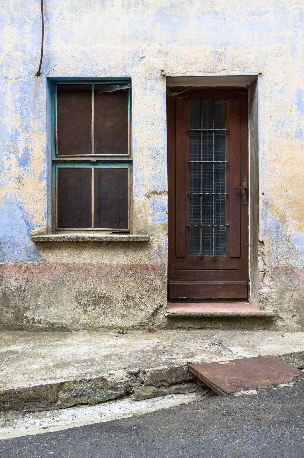 Architecture Blue Building Exterior Built Structure Day Door Entrance Front Door House Languedoc Lapradelle-Puilaurence No People Outdoors Residential Building Southern France Urban Decay Urban Fragments Urban Geometry Urban Landscape Urbanphotography Window