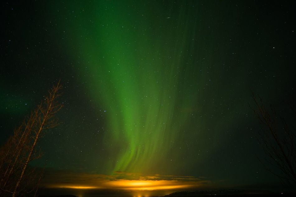Out of the green. Night Beauty In Nature Nature Tranquility Tranquil Scene Scenics Green Color Outdoors Sky Star - Space Aurora Aurora Borealis Iceland Iceland_collection Iceland Memories Northern Lights Green Nightphotography Long Exposure Slow Shutter Night Lights Low Angle View Illuminated Astronomy Galaxy