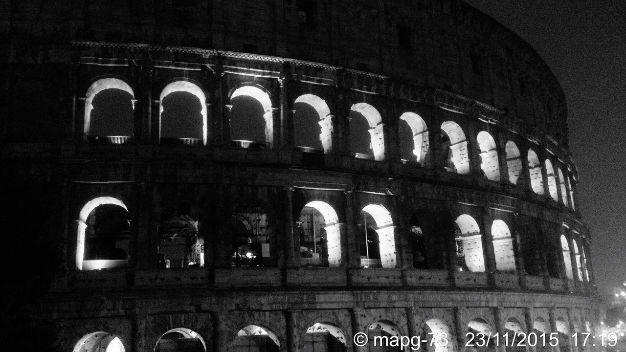 Roman Ruins Historical Monuments Blackandwhite