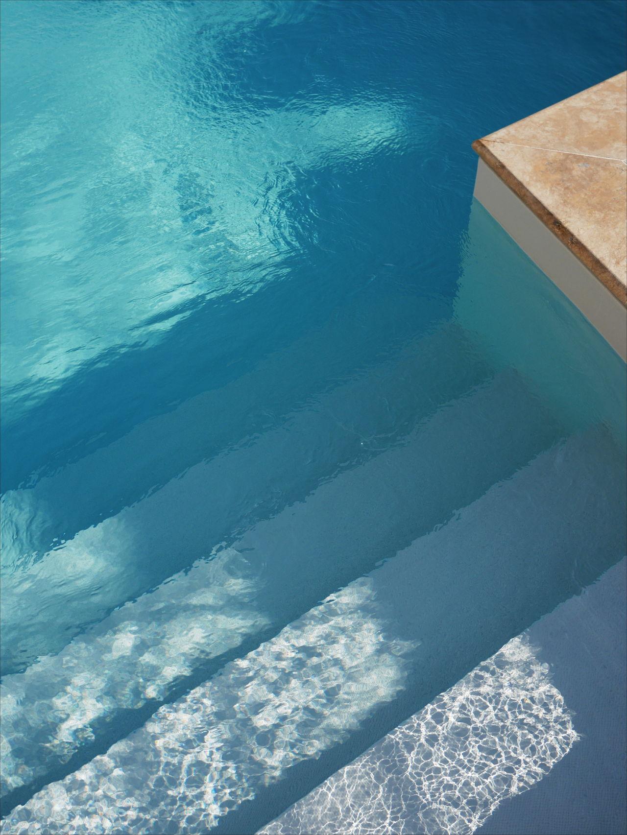 minimal minimalism swimming pool water outdoors full frame blue pool Stairs