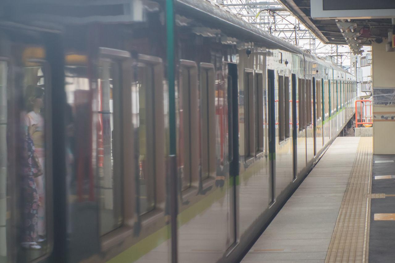 rail transportation, indoors, transportation, railroad station, railroad station platform, public transportation, train - vehicle, no people, day
