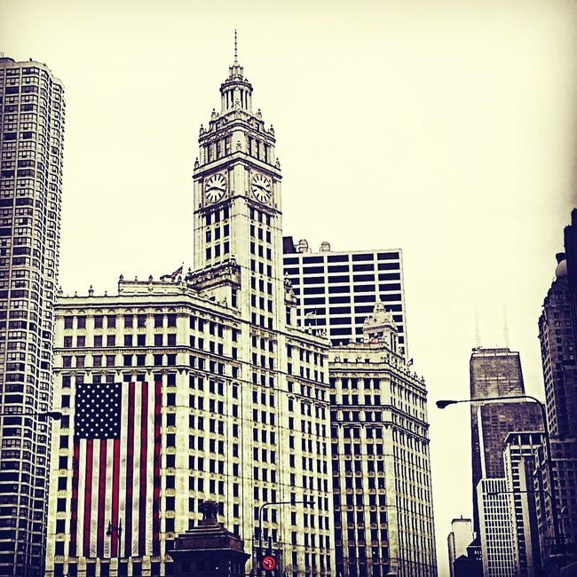Wrigley Building Chicago during the 4th Of July