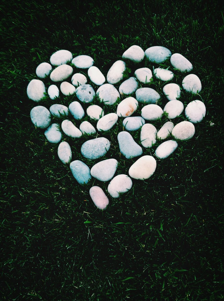 Heart made of pebbles