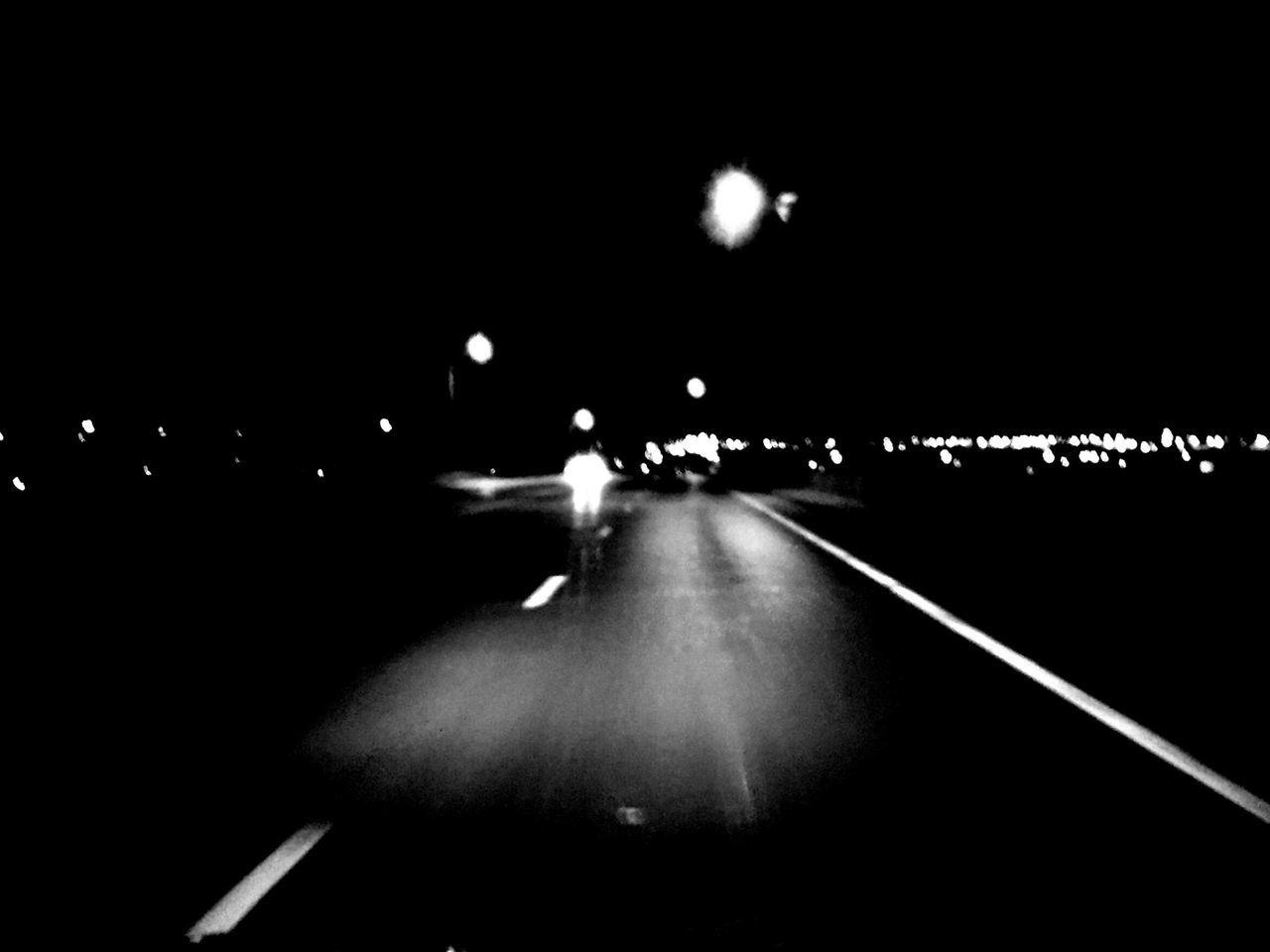 night, illuminated, transportation, road, land vehicle, street light, city, outdoors, no people