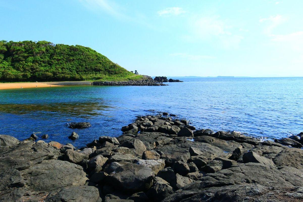 Sea And Rocks Blue Sea Seaside