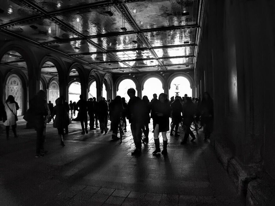 People near the fountain LGarciaPhotography Olloclip Shot On IPhone IPhone Iphoneonly New York New York City Urban Urban Geometry Central Park Park People Street Photography Streetphoto_bw Architecture Built Structure Man Made Object Shot On IPhone 6 Plus Indoors  Men Large Group Of People Real People Person Ceiling Lifestyles Adult Crowd Horizontal Architecture Day
