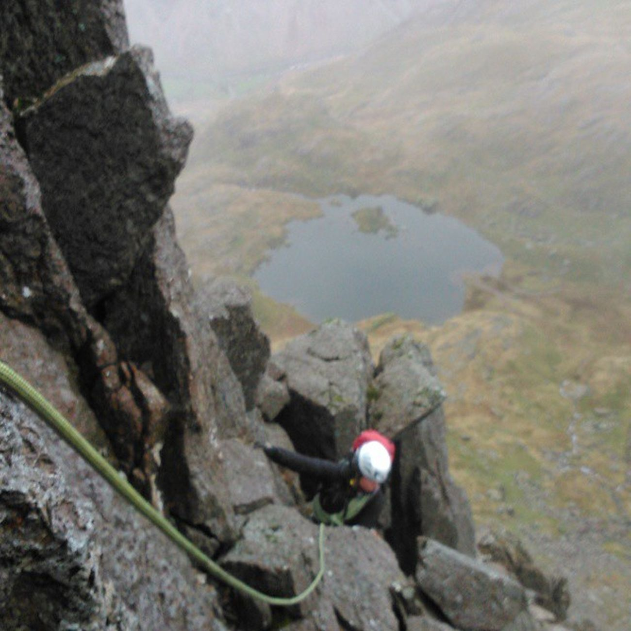 Half way up persons arete, snowdonia, Llanberis pass, on a wet and windy Friday morning Northwales Climb Climbing Scrambling grim wet snowdonia adventure mountaineering