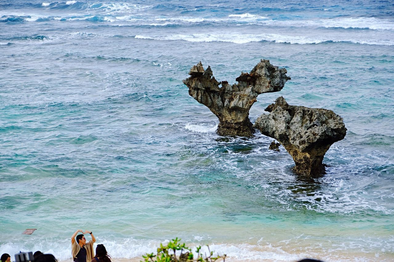 OKINAWA, JAPAN Sea Rock - Object Beach Nature Outdoors Water Beauty In Nature Vacations Day