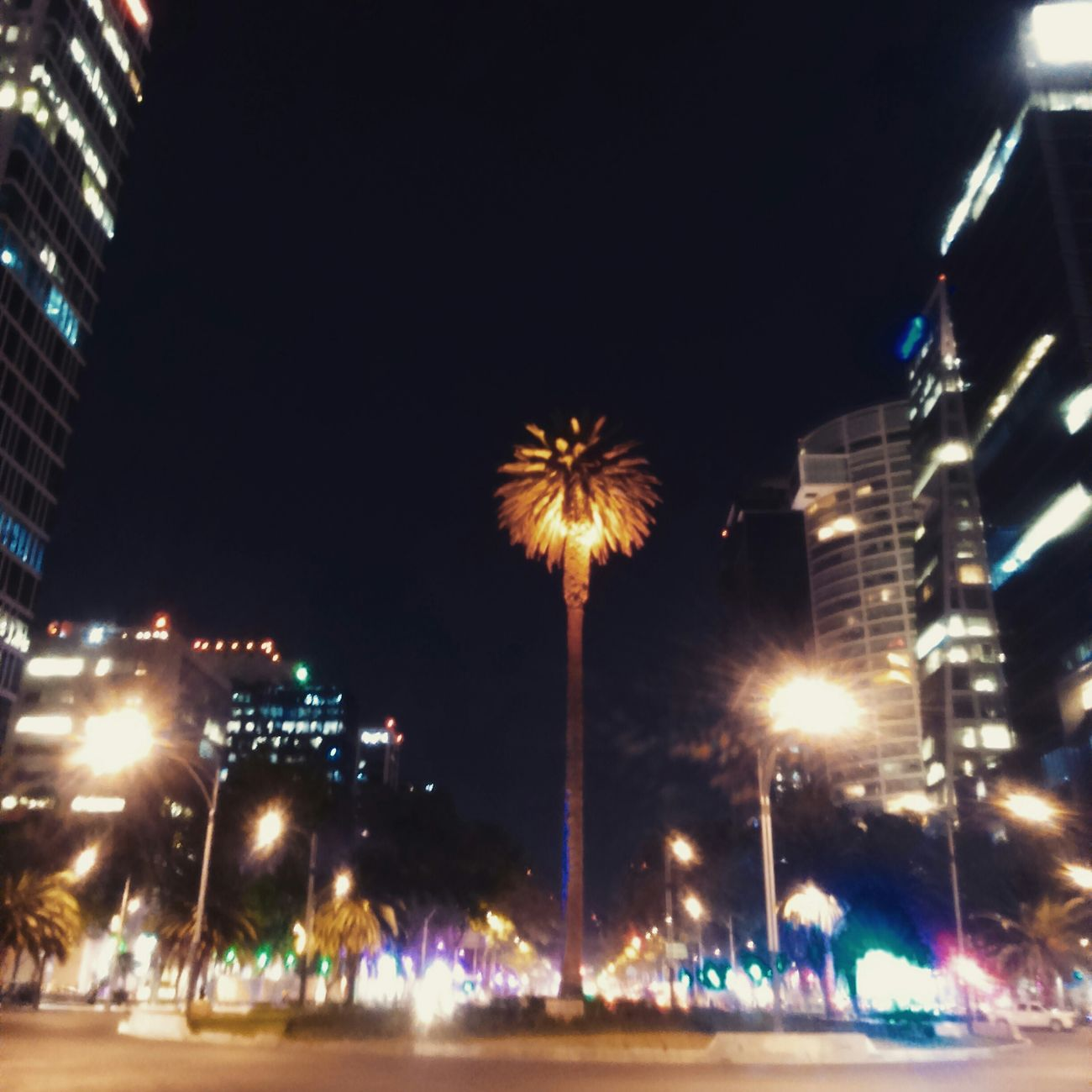 LaPalma Reforma PaseoNocturnoEnBici y esta imagen no es un cliché de tantas fotos de la torre latino o el palacio de bellas artes.