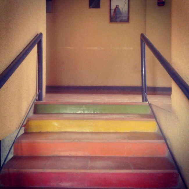 100daysofhappiness Day37 Happiness1 StairwaytoHeaven Happinessis College Stairway Colors Colours Happiness Peace Joy Life Live Love =]