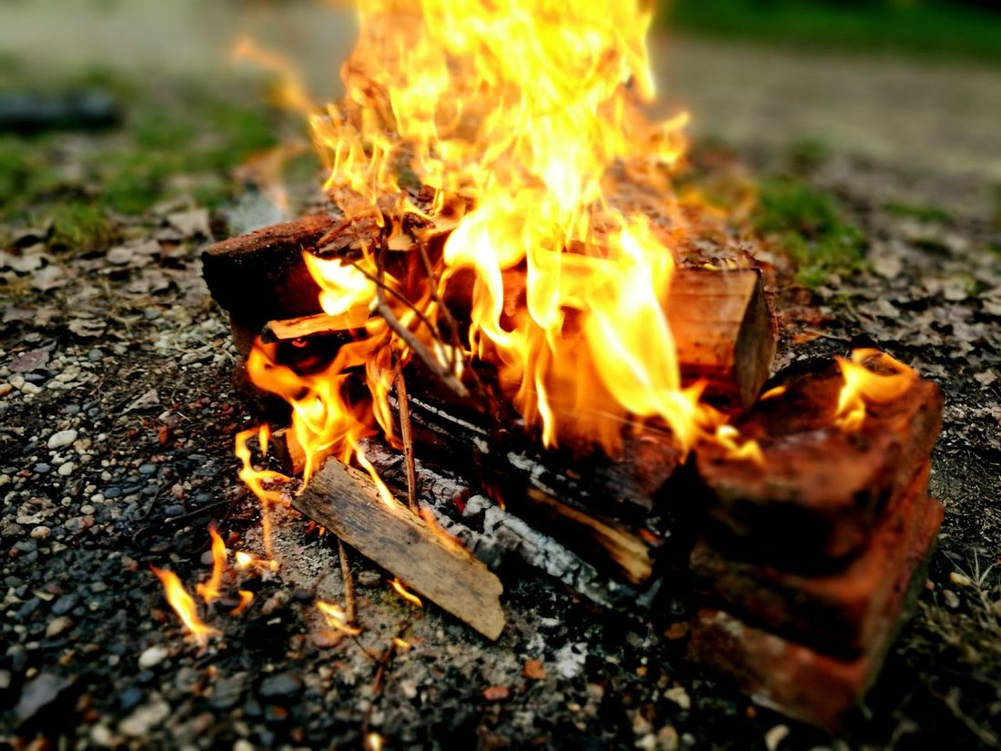 Flame Fire - Natural Phenomenon Heat - Temperature Burning Campfire Wood - Material Barbecue Grill Bonfire Outdoors No People Food Nature Inferno Frascarolo Cascina Tradition Lifestyles Hobbies Memories Langbart Art Flame Day Burning