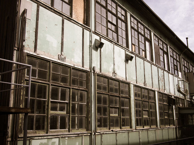 Run down industrial building exterior Abandoned Architecture Bad Condition Building Exterior Deterioration Exterior Run Down Building Run Down Places Window Windows