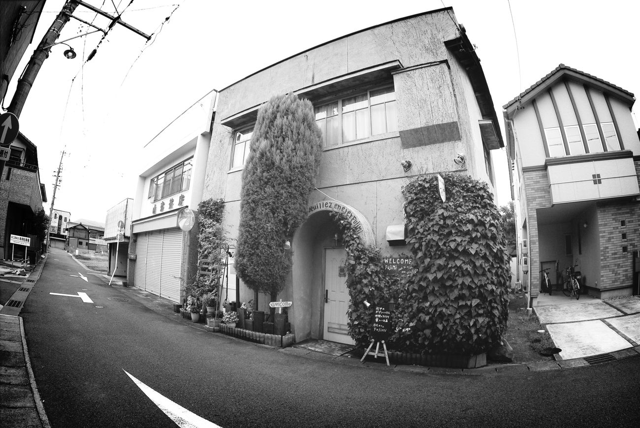 パブ Pub Monochrome Blackandwhite Landscape_Collection PENTAX K-m LENS FISHEYE