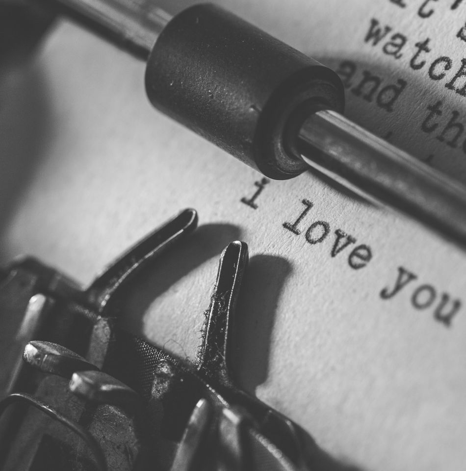 Close-up Extreme Close-up Focus On Foreground Monochrome Photography Selective Focus Single Object Text Typewriter Western Script
